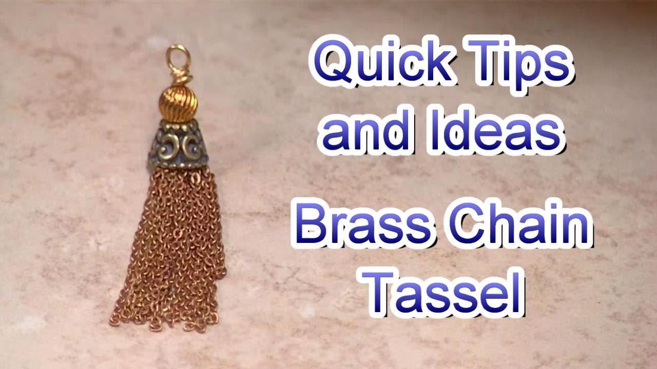 How to Make a Brass Chain Tassel