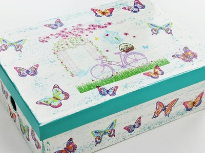 How to make a decoupage wooden box - Decoupage gift - Fast & Easy Tutorial - DIY