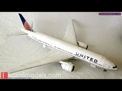 How to make a paper aircraft. boeing-airplane  (how to make an origami boeing)