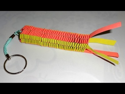 How to make a Paper keychain -- Easyway