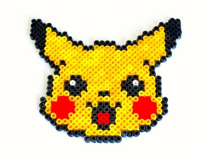 How to make a Pikachu out of Perler beads (Stop Motion)