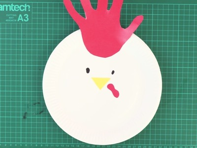 How To Make a Rooster Plate for Your Chinese New Year Party! Craft for Children |