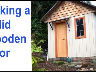 How to Make A Wooden Entryway Door