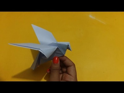 How to make Dove bird origami - paper crafts for kids