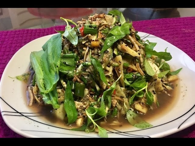 HOW TO MAKE EGGS PLANT SOOP ສຸບໝາກເຂືອ ( LAO FOOD ) HOME MADE BY KAYSONE