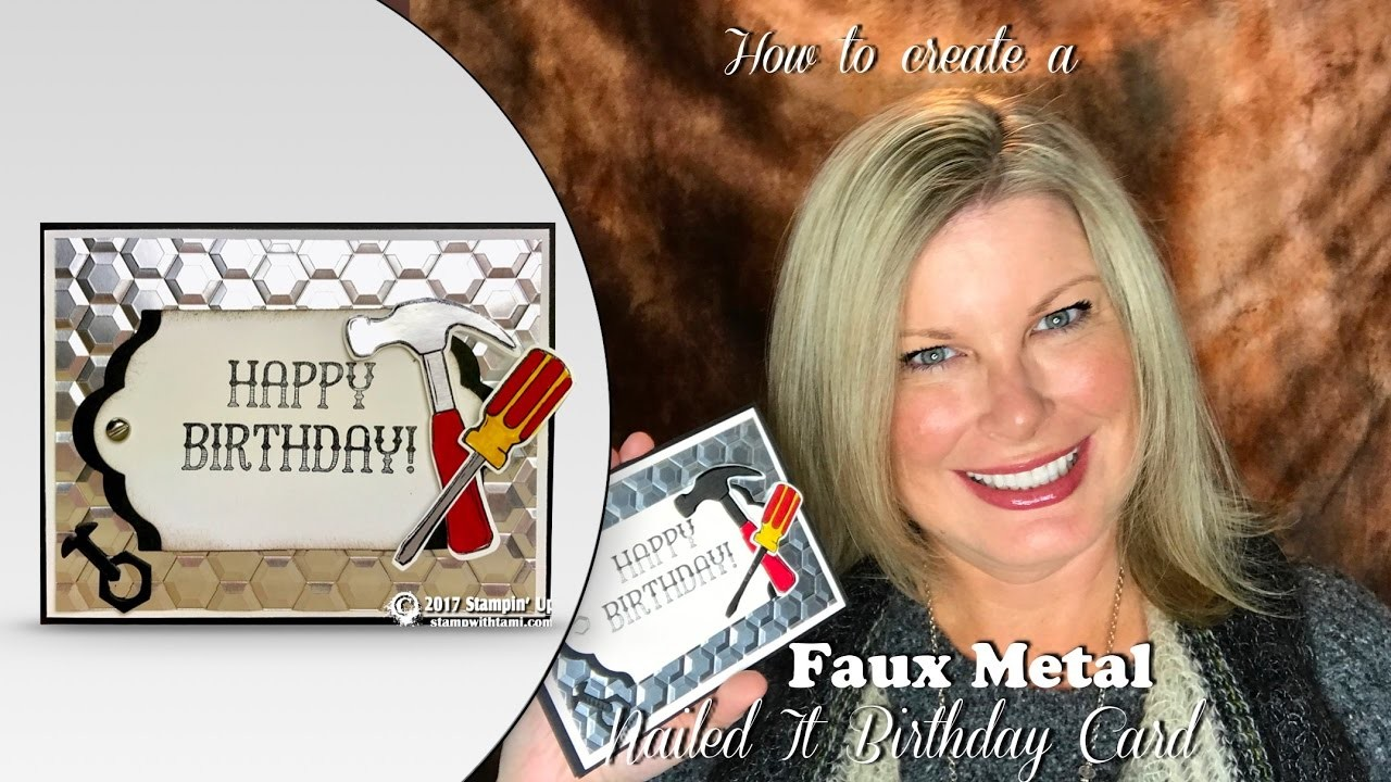 How to make Faux Metal Background and Accessories with Stampin Up Nailed It