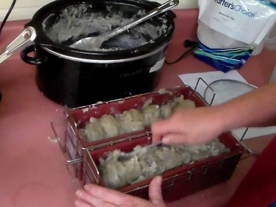 How to make Homemade Hot Process Soap.  Part 2