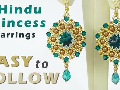 How to make jewelry Rivoli earrings Jewellery making