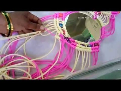 How to make mirror hanger part-2. wall Hanging with macrame