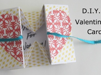 HOW TO MAKE ORIGAMI BOX VALENTINE'S CARD