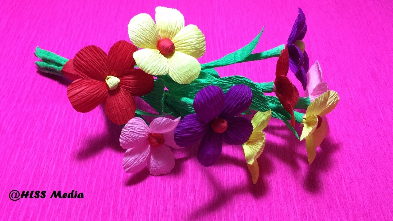 How To Make Origami Crepe Paper Flowers Flower Making Of Crepe Paper