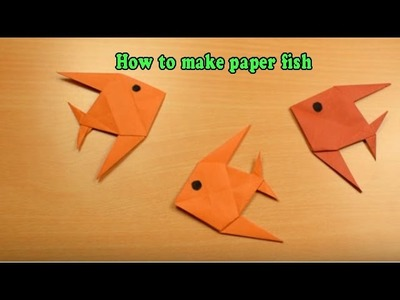 How to make paper fish   how to make paper fish easy   How to make an origami paper fish