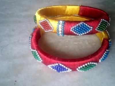 How to make silk thread bangles | Fancy bangles | Bridal jewellary making