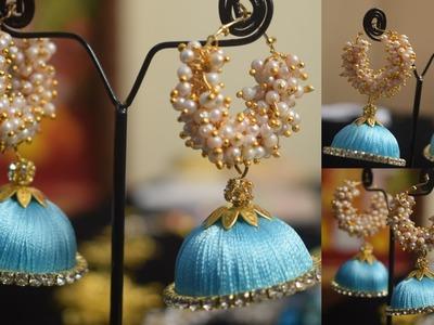 How to make Silk Thread Jhumkas || silk thread jhumkas || jhumkas with silk thread |Women's Special