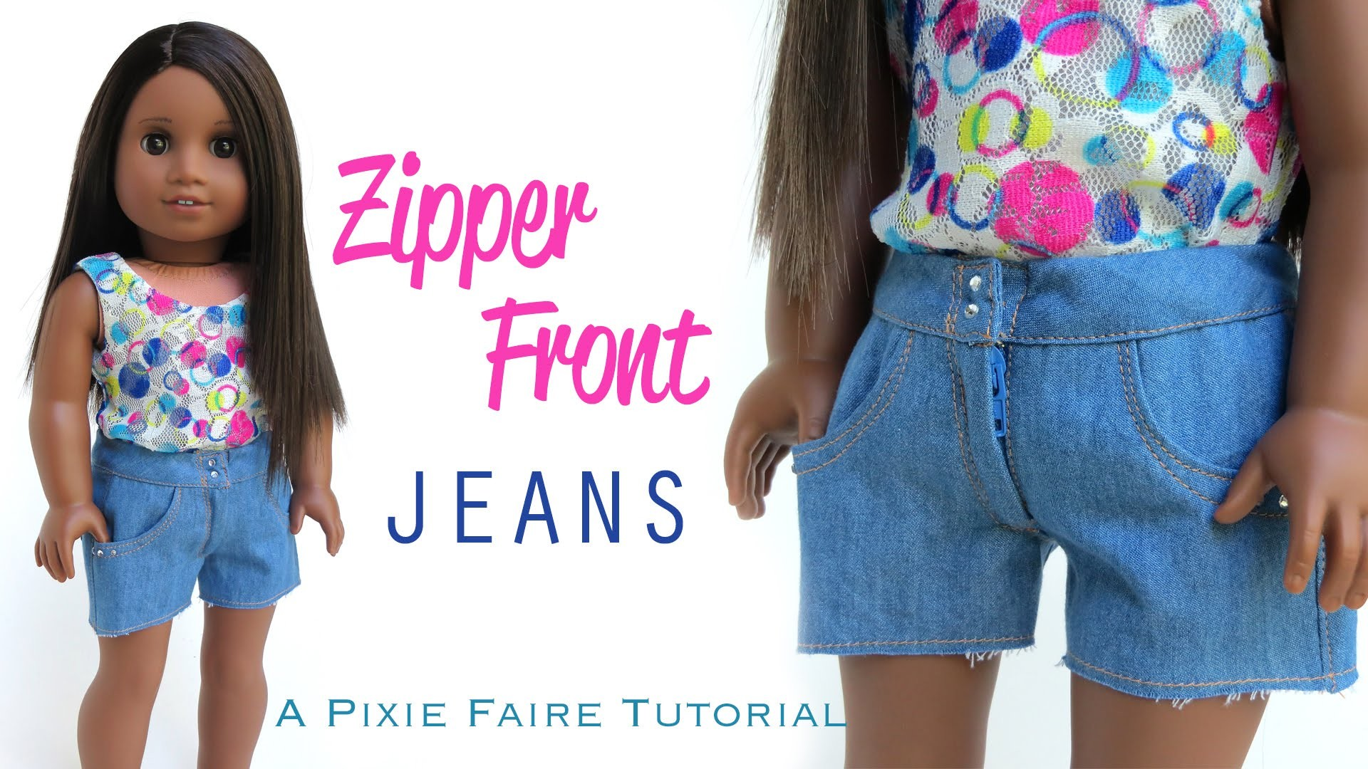 How To Make Zipper Front Jeans For Your American Girl Doll