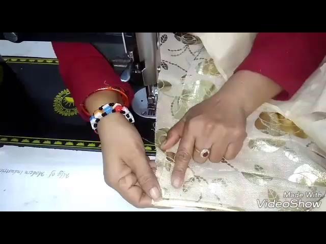 How to stitch lehanga