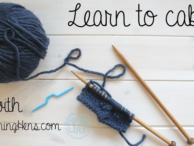 Learn how to cable knit