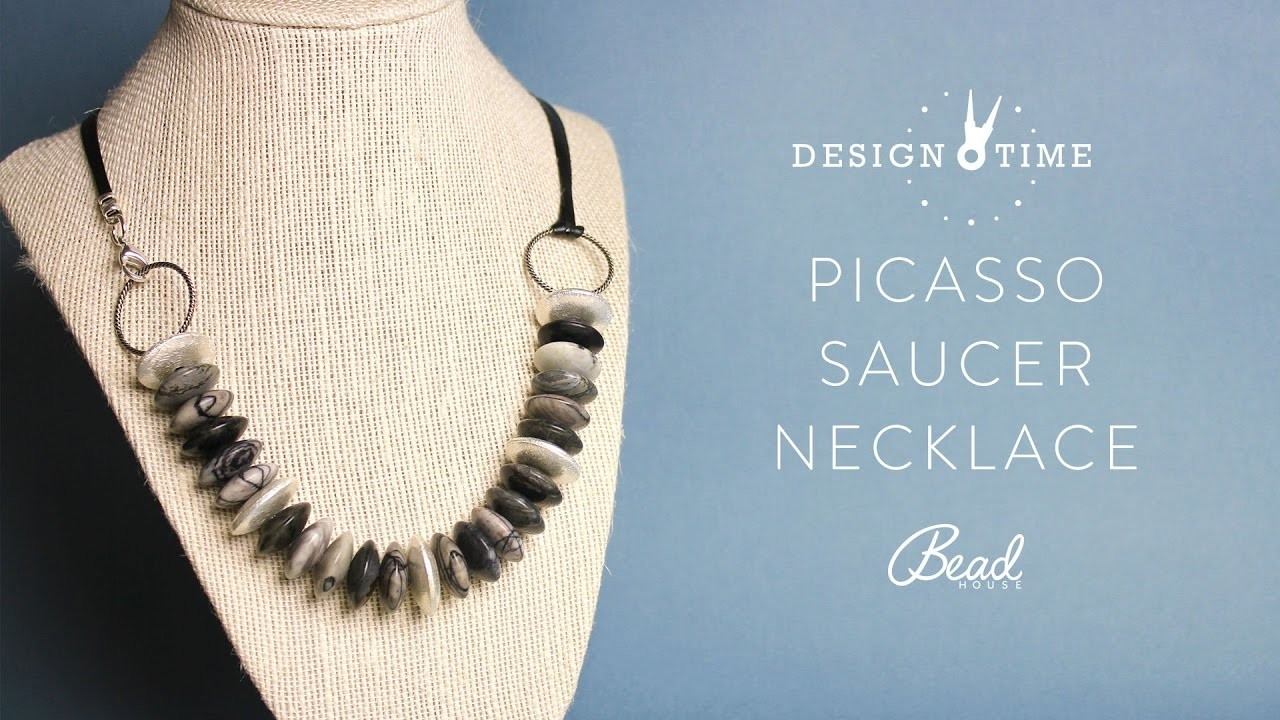 Learn How to Make a Picasso Saucer Necklace - Design Time