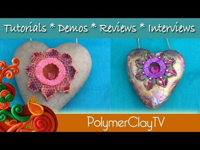Learn how to make an altered heart with a shadowbox like window out of a paper mache heart
