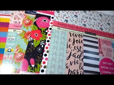 New Michaels Paper Pad Haul - Retro Diner, Blooming Flowers and Mexican Fiesta