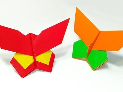 Origami butterfly (Yoshio Tsuda). Easy tutorial. Mariposa de origami
