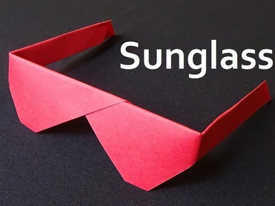 Origami Sunglasses - How to make Traditional Sunglasses with paper