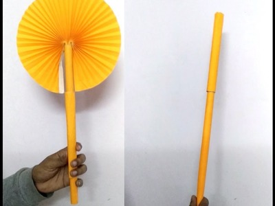 Paper Craft : Magic Wand for children (Paper Fan) - Origami