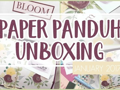 Paper Panduh Subscription ❤️ January 2017 Unboxing