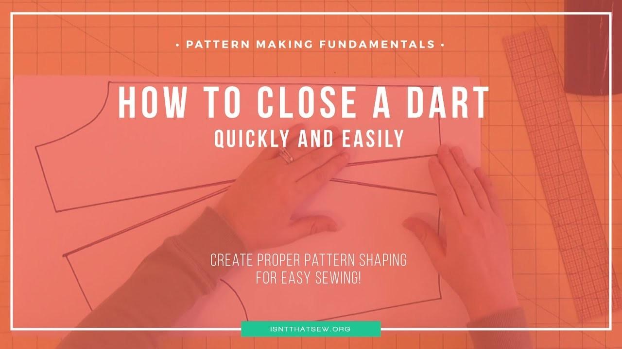 Pattern Making Fundamentals: How to close a dart