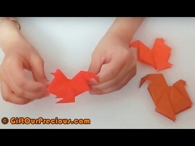 Simple Origami Chicken (Rooster. Cockerel) - Simple and Easy Paper Art Crafts for Ki