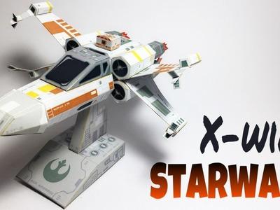 Star Wars X-Wing Paper Crafts tutorial !