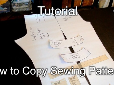 Tutorial: Copying Sewing Patterns