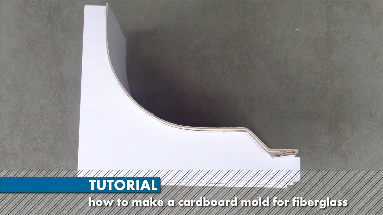 Tutorial: how to make a cardboard mold for fiberglass