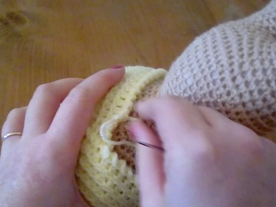 Weebee Crochet Doll - How to sew on the hair cap & how well to stuff your doll