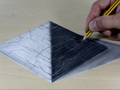 3D Trick Art on Paper very simple pyramid, Long version