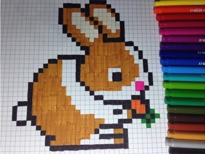 Comment dessiner un lapin Pixel Art