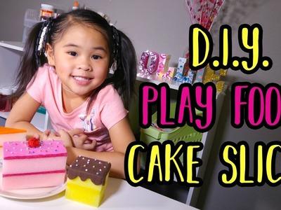 DIY Fake Cake Slices | Play Food Craft Tutorial