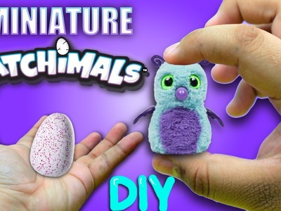 DIY MINIATURE HATCHIMALS !?!. How to make a miniature hatchimals toy !!!