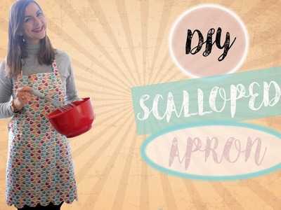 DIY Scalloped Edge Kitchen Apron | Easy Sewing Tutorial for Beginners | MVD