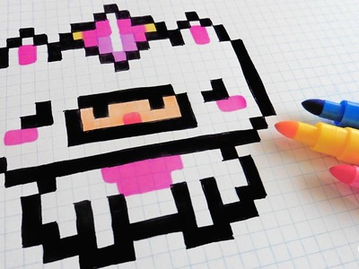 Handmade Pixel Art - How To Draw Little Unicorn #pixelart