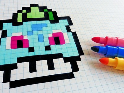 Handmade Pixel Art - How To Draw Bulbasaur Mushroom #pixelart