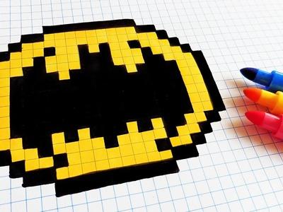 Handmade Pixel Art - How To Draw Old Logo Batman #pixelart