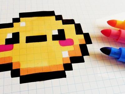 Handmade Pixel Art - How To Draw Kawaii Lemon #pixelart