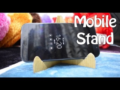 How to make Mobile holder or Stand at home with Cardboard - DIY crafts