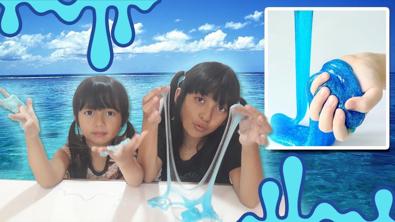 How To Make Ocean Blue Clear Slime | Slime Tutorial