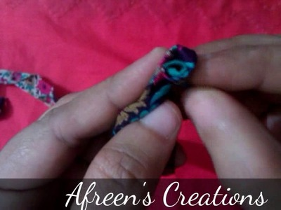 How to make rose flower from fabric