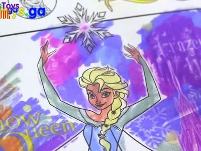 Kids Toys Utube 01 - Disney Frozen Imagine Ink Rainbow Color Pen Art Book with Surprise Pictures