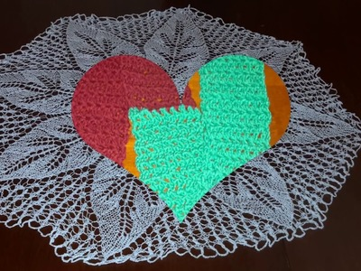 Knitted doily and crochet hats
