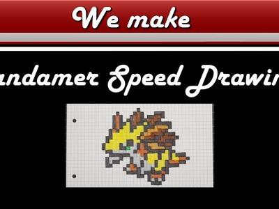 Pixel Art Pokemon Sandamer Drawing