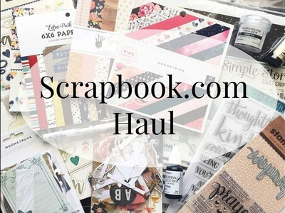Scrapbook haul video. Card making supply haul video